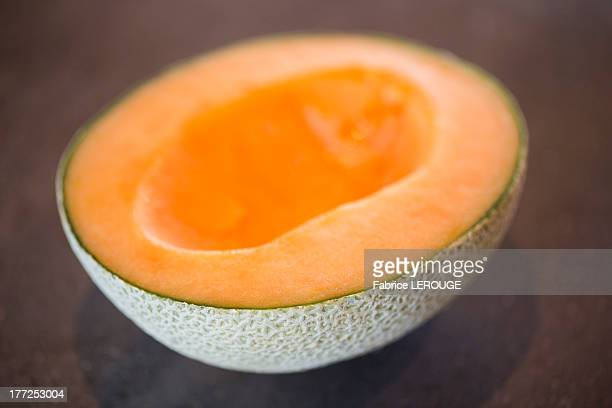 Cross section of a melon