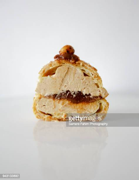 Cross section of a Paris-Brest with praline