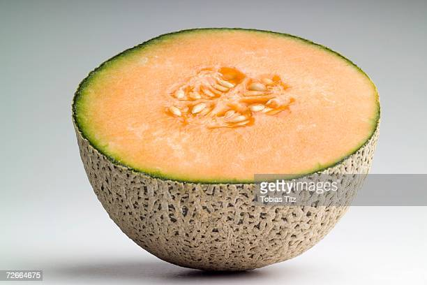 Cross section of cantaloupe