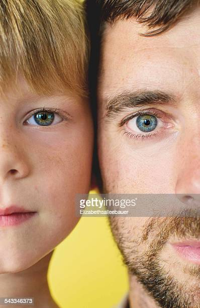 Cross section of father and son's (4-5) faces