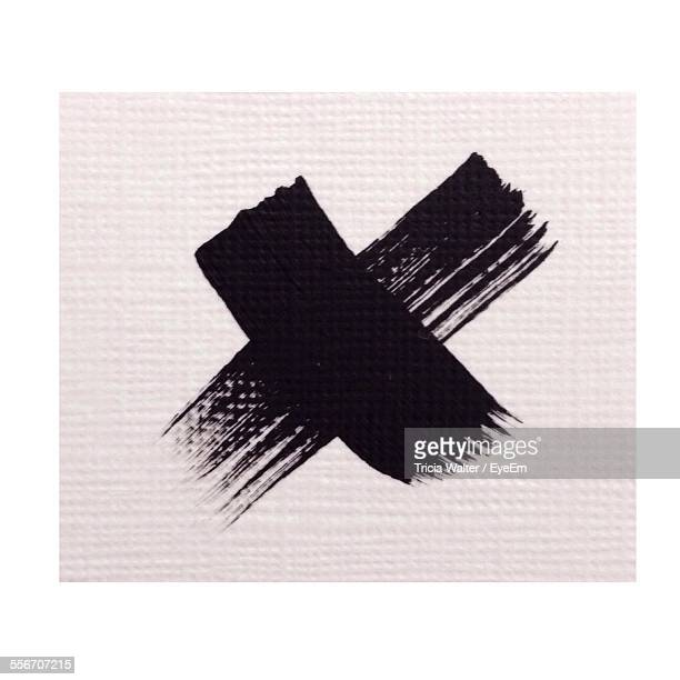 Cross Shape On White Cloth