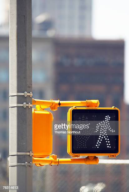 cross sign on traffic lights, close-up - walk don't walk signal stock pictures, royalty-free photos & images
