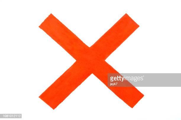 cross sign - oops stockfoto's en -beelden