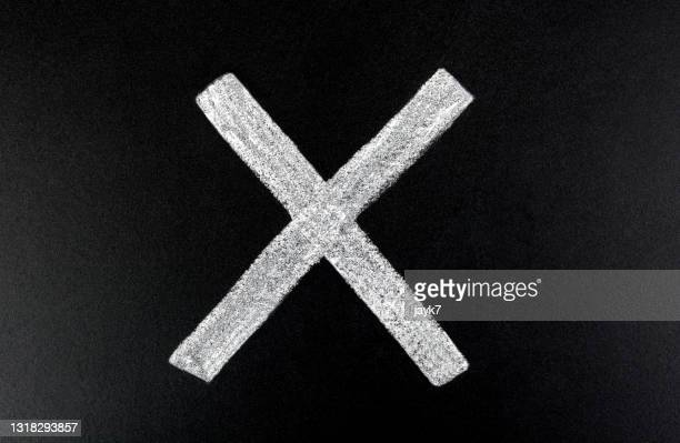 cross sign - x marks the spot stock pictures, royalty-free photos & images