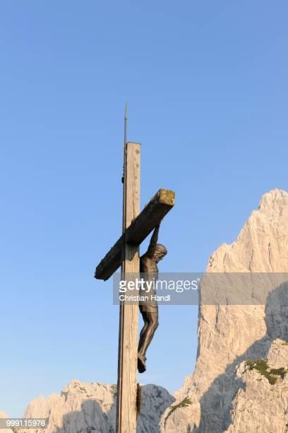 Cross, Stripsenjochhaus, Wilder Kaiser, Tyrol, Austria
