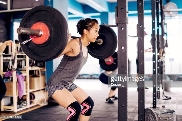 cross training and healthy lifestyle in malaysia - circuit training stock photos and pictures