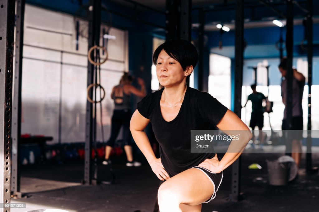 Cross training and weight lifting : Stock Photo