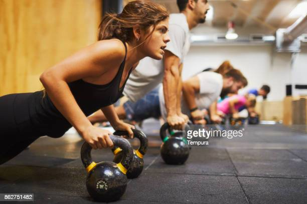 cross training gym, exercising and focus concepts. - gym stock pictures, royalty-free photos & images