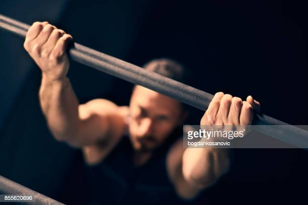 cross training - chin ups stock photos and pictures
