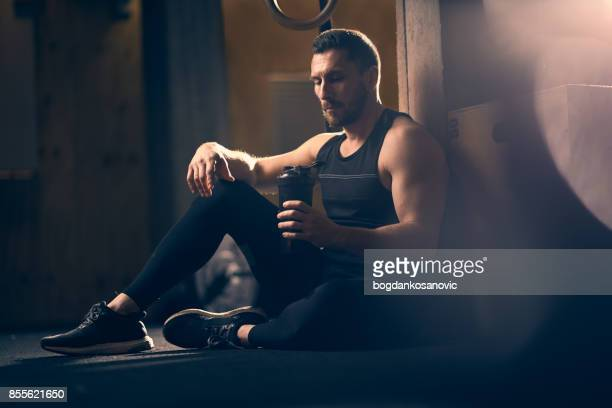cross training - protein drink stock pictures, royalty-free photos & images