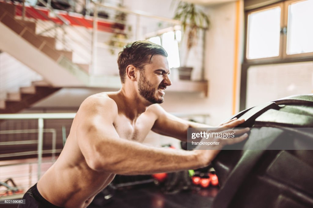 cross training with the tire : Stock Photo