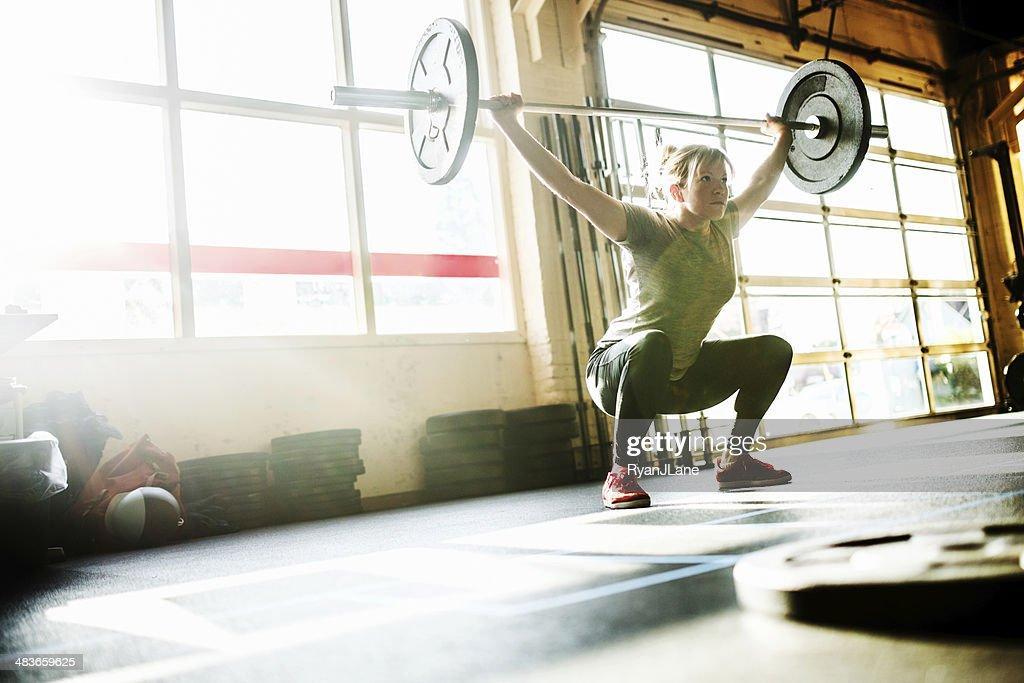 Cross Training Woman : Stock Photo