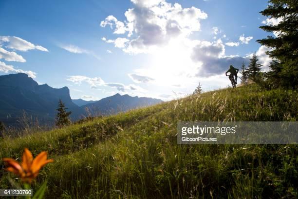 cross mountain bike rider - cross country cycling fotografías e imágenes de stock