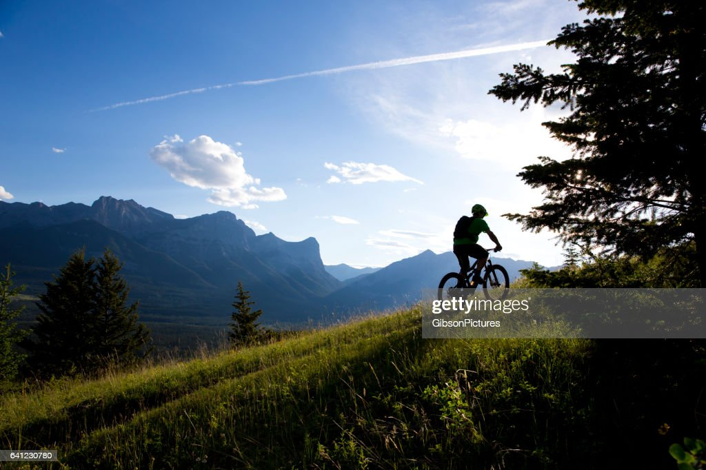 Cross Mountain Bike Rider : Foto de stock