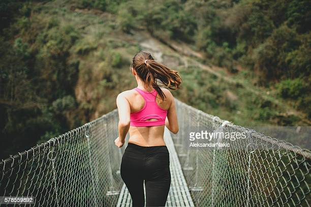 cross-country running - pokhara stock pictures, royalty-free photos & images