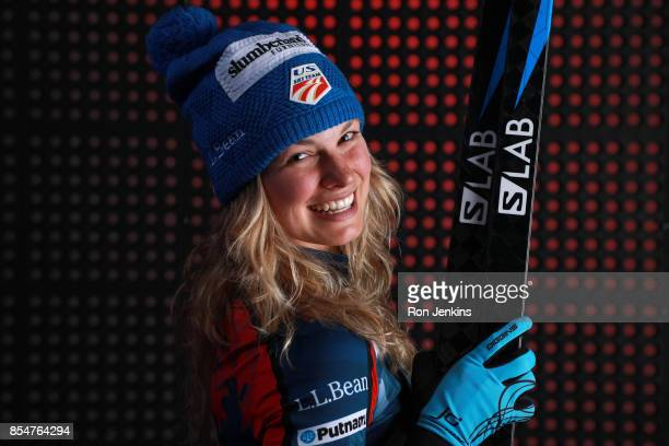 CrossCountry Skier Jessie Diggins poses for a portrait during the Team USA Media Summit ahead of the PyeongChang 2018 Olympic Winter Games on...