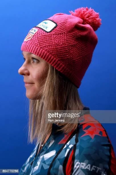 CrossCountry Skier Sadie Bjornsen poses for a portrait during the Team USA Media Summit ahead of the PyeongChang 2018 Olympic Winter Games on...