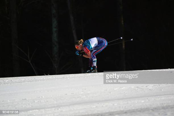 2018 Winter Olympics USA Jessica Diggins in action during Women's 30km Mass Start at Alpinsia Cross Country Centre PyeongChang South Korea 2/25/2018...