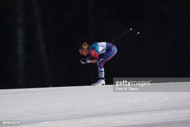 2018 Winter Olympics USA Sadie Bjornsen in action during Women's 30km Mass Start at Alpinsia Cross Country Centre PyeongChang South Korea 2/25/2018...