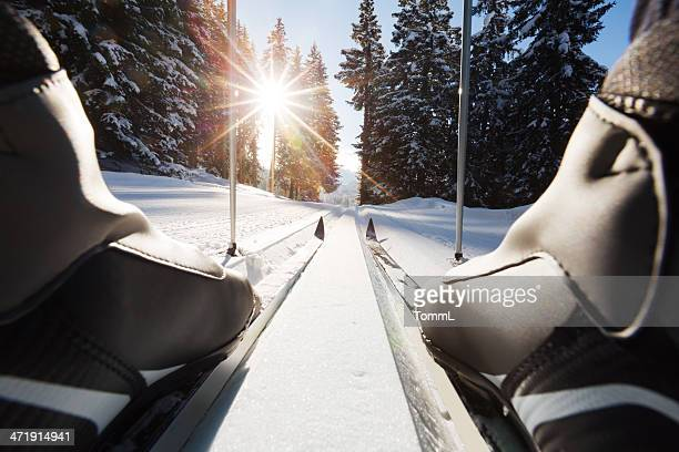cross-country skiing - nordic skiing event stock pictures, royalty-free photos & images