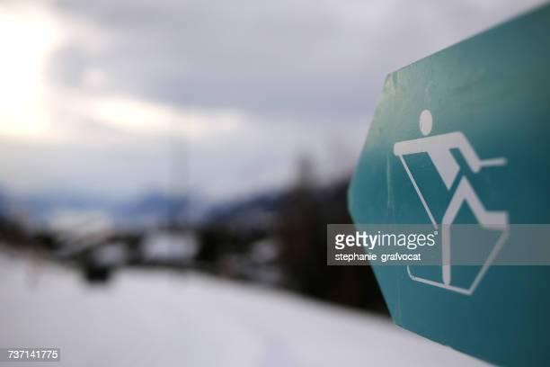 Cross-country skiing sign, Switzerland