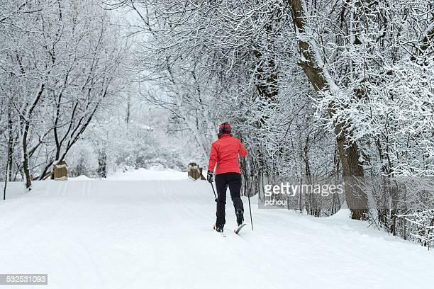 Cross-country skiing, woman