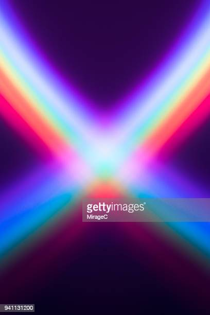 crossed rainbow - illusion stock pictures, royalty-free photos & images