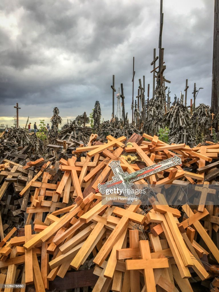 Crosses accumulated into heap : Stock Photo