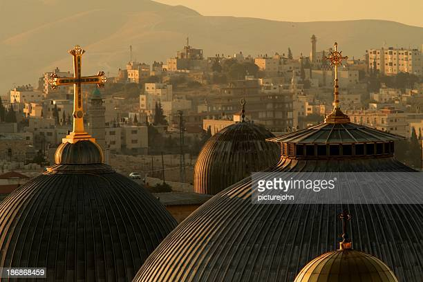 Crosses and Domes in the Holy City of Jerusalem