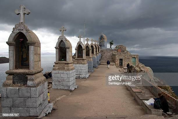 Crosses at top of Cerro Calvario