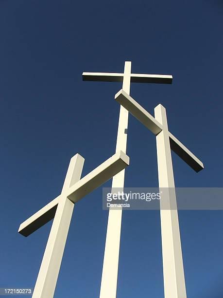 Kreuze auf Blau Tag