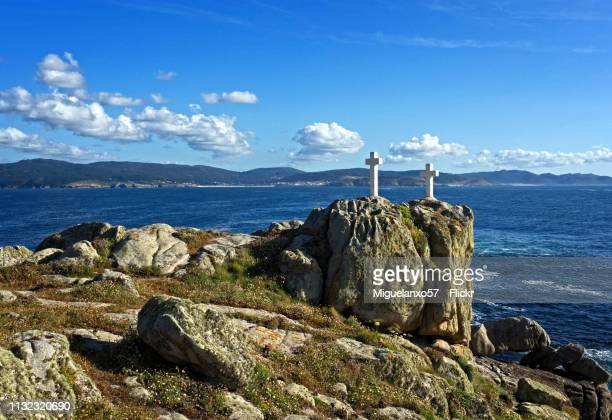 Crosses on the Coast of Death, Galicia (Spain)