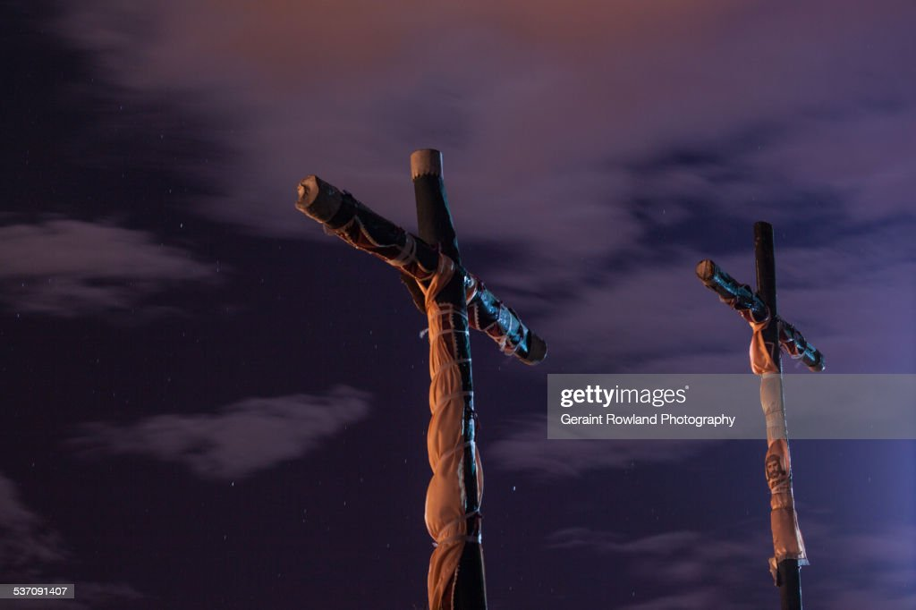 Crosses, on Top of the Hill, Cusco : Stock Photo