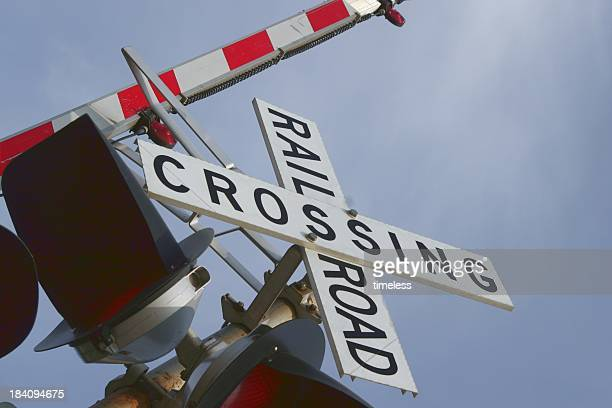 rr crossing 1 - railroad crossing stock pictures, royalty-free photos & images