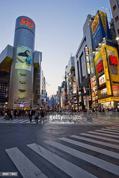 A crossing in Shibuya with 109 building.