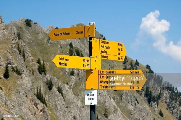 Crossing La Chaux Morgins Vaud Switzerland