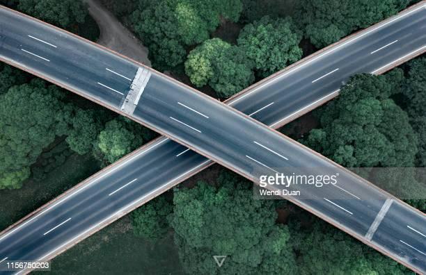crossing - ansicht von oben stock-fotos und bilder