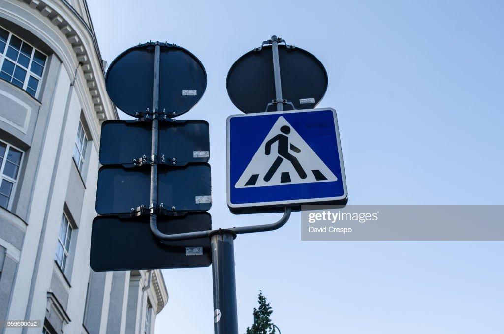 Crossing sign : Stock-Foto