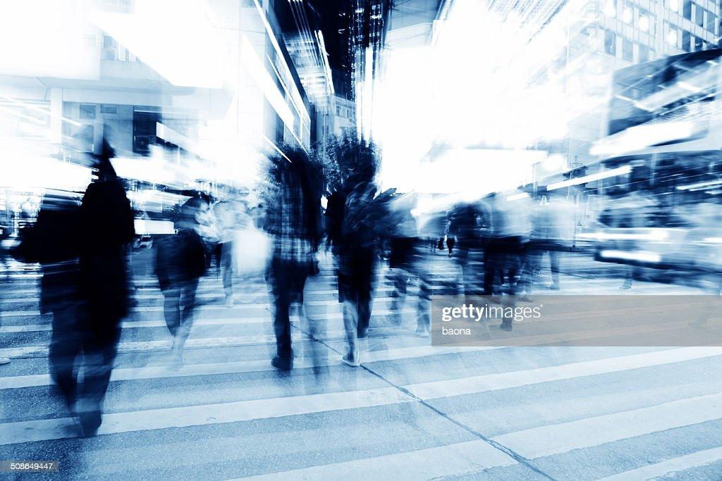 Crossing street : Stock Photo