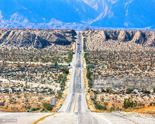 crossing the anza borrego desert - anza borrego desert state park stock pictures, royalty-free photos & images