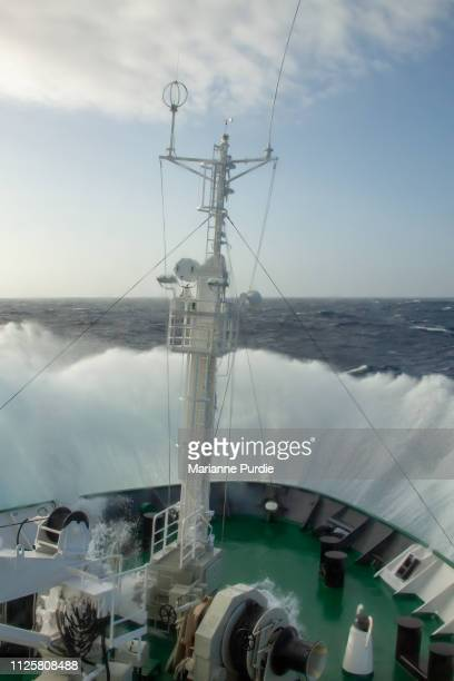 crossing the drake passage - drake passage stock photos and pictures