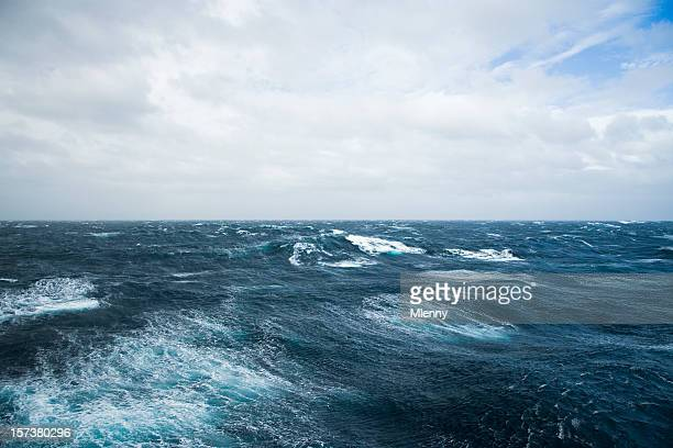 crossing the drake shake - drake passage stock photos and pictures