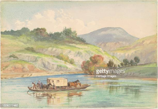Crossing the James River, 1878. Artist Unknown.