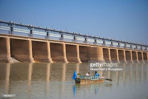 Crossing through Kotri Barrage