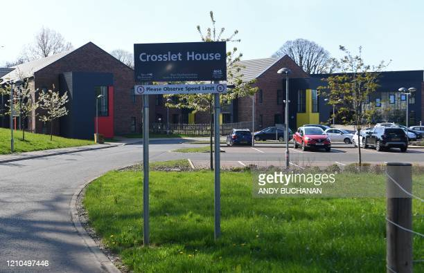 Crosslet House Care Home is pictured in Dumbarton, west of Glasgow on April 21 after the news that 15 elderly residents had died from the novel...
