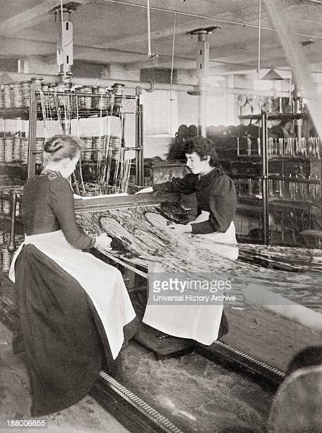Crossley's Carpets Weaving Works Halifax Yorkshire England In The Late 19Th Century From Picturesque History Of Yorkshire Published C1900