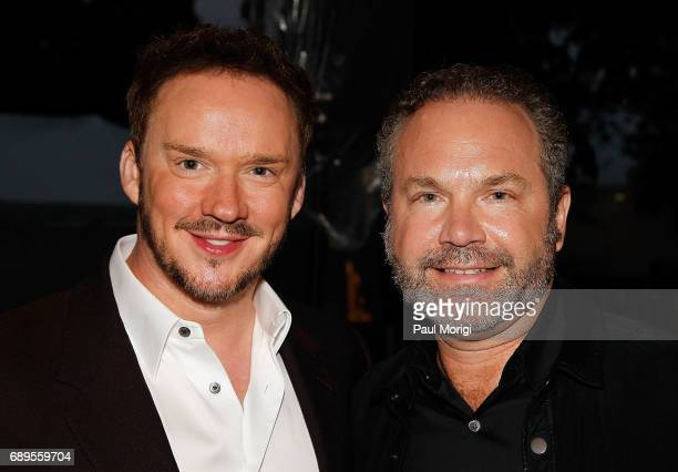 Crossover artist Russell Watson and Grammy nominated multiplatinum selling artist John Ondrasik of Five for Fighting backstage at PBS' 2017 National...