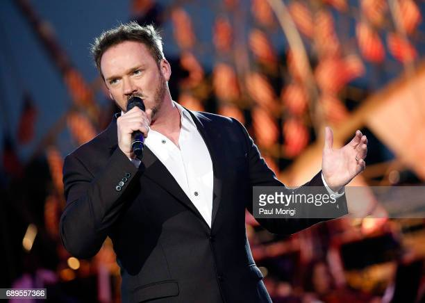 Crossover artist Russell Watson performs at PBS' 2017 National Memorial Day Concert at US Capitol West Lawn on May 28 2017 in Washington DC