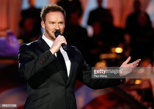 Crossover artist Russell Watson rehearses at PBS' 2017 National Memorial Day Concert at US Capitol West Lawn on May 27 2017 in Washington DC