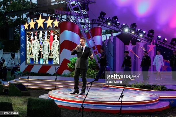 Crossover artist Russell Watson rehearses at PBS' 2017 National Memorial Day Concert Rehearsals at US Capitol West Lawn on May 27 2017 in Washington...